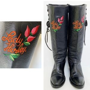 LADY HARLEY DAVIDSON Tall Embroidered Boots